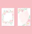 watercolor pink wild rose on pink splash vector image