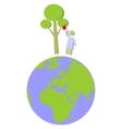 Earth globe set 012 vector image