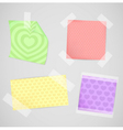 Messages papers with heart texture set vector image
