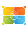 4 rectangle infographic design template vector image
