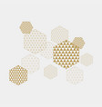 abstract hexagons geometric composition vector image vector image
