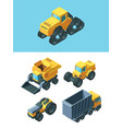 agricultural isometric machines set modern vector image vector image