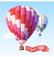 Air Balloon With Ribbon vector image