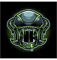 aliens head mascot logo vector image