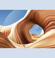antelope canyon art vector image vector image