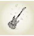 Art a guitar vector image vector image