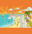 beach town vector image vector image