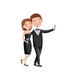 beautiful loving couple spending time together and vector image vector image