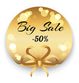 big sale 50 percent off reduction golden label vector image