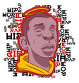 black man with a halo on the background of the vector image vector image