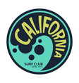 california surfer tee graphic vector image vector image