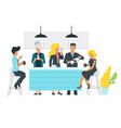 coffee break concept business vector image