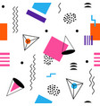colorful seamless abstract geomertic pattern vector image