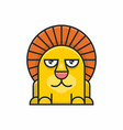 cute lion icon on white background vector image vector image