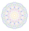 decorative mandala good for coloring book for vector image vector image
