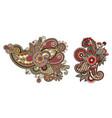 decorative paisley design floral indian pattern vector image