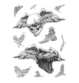 design elements for halloween hand drawn eps 8 vector image