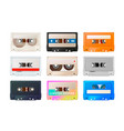 detailed audio cassette vintage tape isolated on vector image vector image