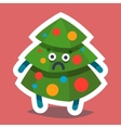 Emoticon Icon Happy New Year Fir Tree vector image vector image