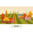 farm modern flat cartoon design style vector image vector image