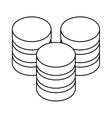 figure database hosting icon image design vector image vector image