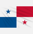 flag panama swaying in the wind realistic vector image