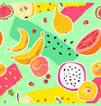 fruit print fruits seamless pattern fresh food vector image vector image
