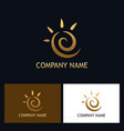 gold abstract swirl logo vector image vector image