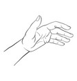 hand drawn woman hand vector image vector image