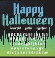 happy halloween new powerful gothic typeface vector image
