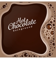 Hot chocolate with bubbles background vector image