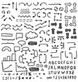 Huge set of hand drawn elements vector image vector image