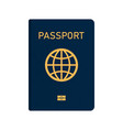 international passport with biometric data vector image
