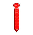 isolated necktie icon vector image