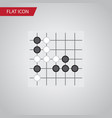isolated renju flat icon gomoku element vector image vector image