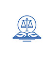 legal code line icon concept legal code flat vector image vector image