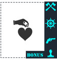 love for money icon flat vector image vector image