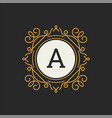 luxury logo template for restaurant vector image vector image
