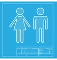 Male and female sign White section of icon on vector image vector image
