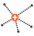medical relations flat icon vector image vector image