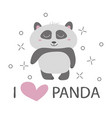 panda t-shirt design with cute panda bear vector image