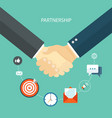partnership concept flat vector image