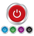 Power sign icon Switch on symbol vector image