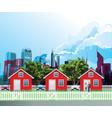 Row residential suburban houses