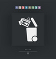 separate waste collection icon vector image