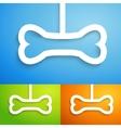 set applique bone icon for happy animal vector image