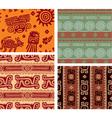 set mexican seamless tiles vector image vector image