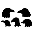 Set of Eagles silhouettes vector image