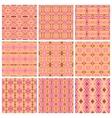Set of nine tribal patterns vector image vector image