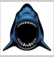 shark head isolated on white - emblem for a sport vector image vector image